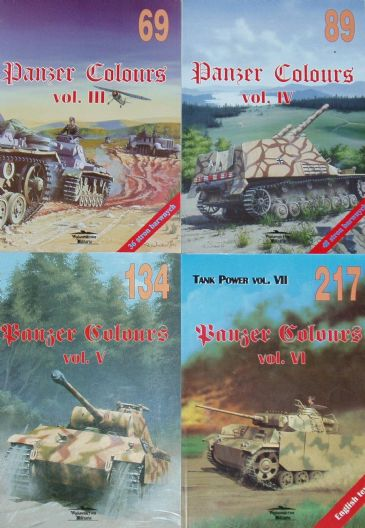 Panzer Colours - Volumes III, IV, V and VI
